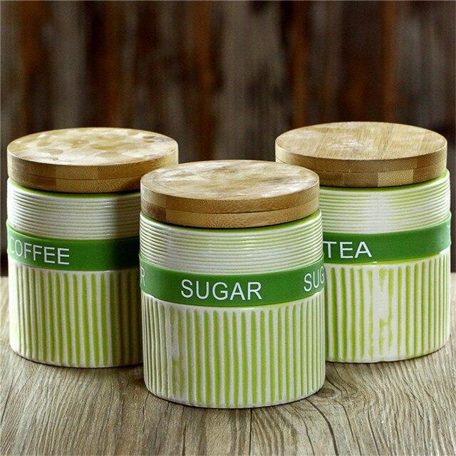 Jarra de cerámica cocina snack caja de almacenamiento de alimentos ...