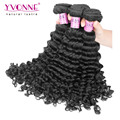 3Pcs/lot Brazilian Deep Wave Virgin Hair,100% Remy Human Hair Extension,8-28 Inches Aliexpress Yvonne Hair,Natural Color