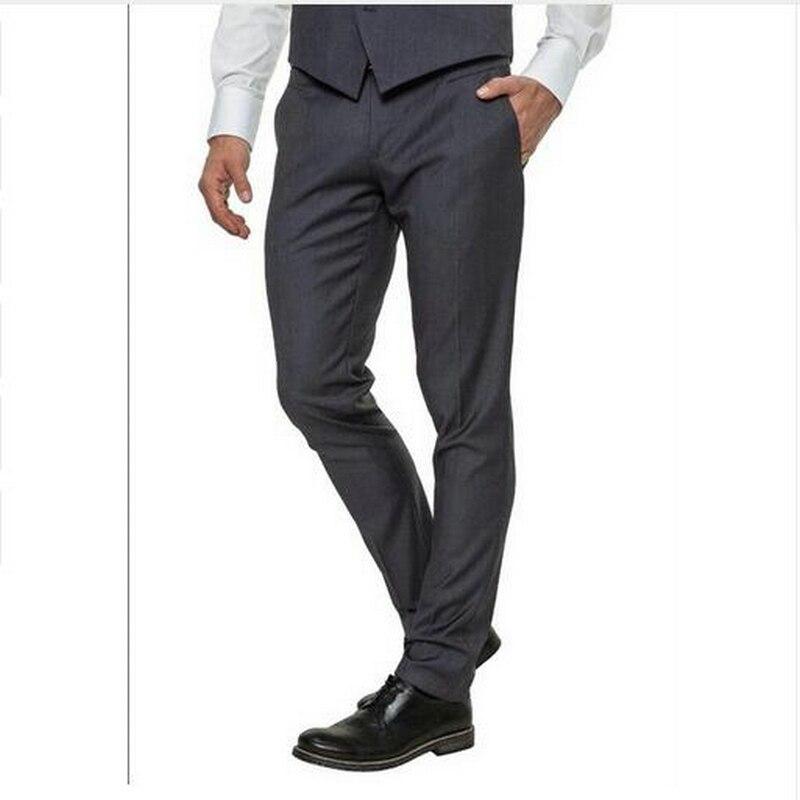 Pantalones De Traje De Hombre De Nuevo Estilo Hechos A Medida Pantalones Elegantes De Trabajo De Negocios Pantalones De Traje De Novio Nuevo Gris Negro Para Hombres Pantalones De Traje Aliexpress