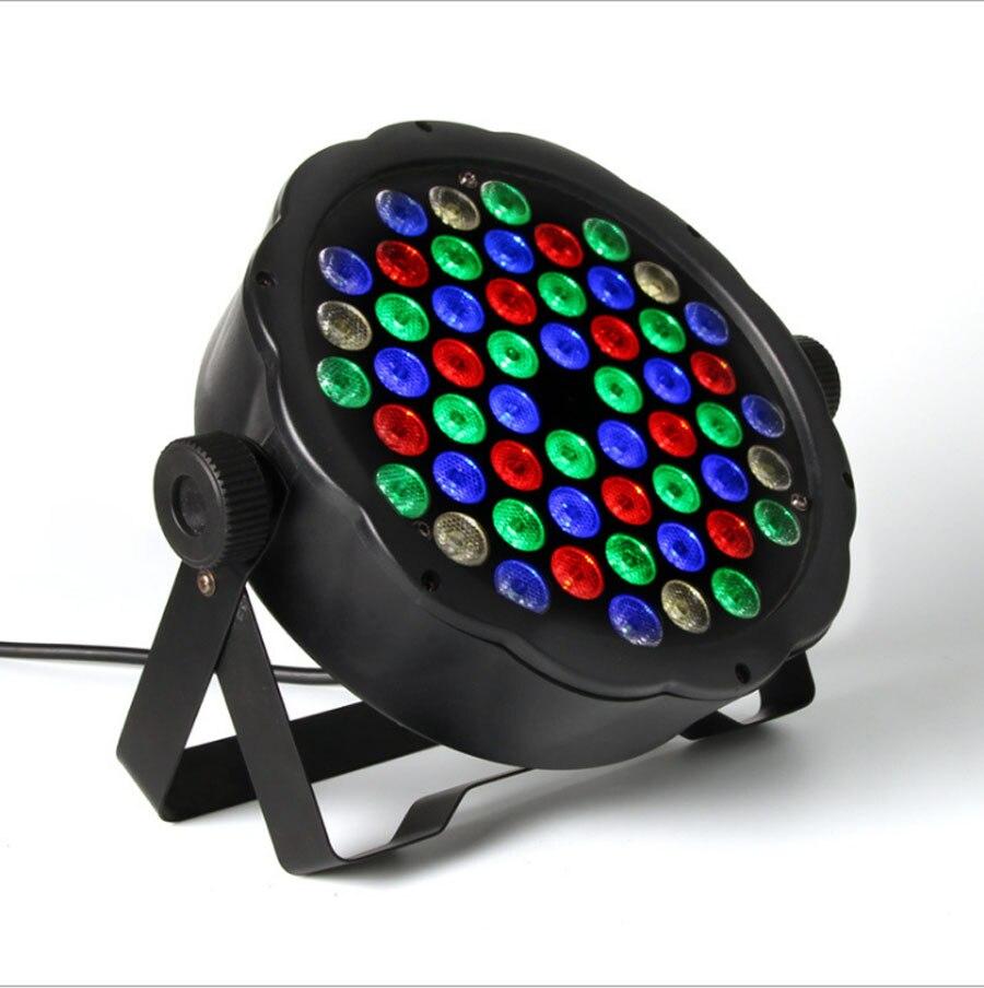ФОТО Stage Lights RGB PAR LED DMX Stage Lighting Effect DMX512 Master-Slave Led Flat for DJ Disco Party KTV For EU Plug AC 110 - 220V