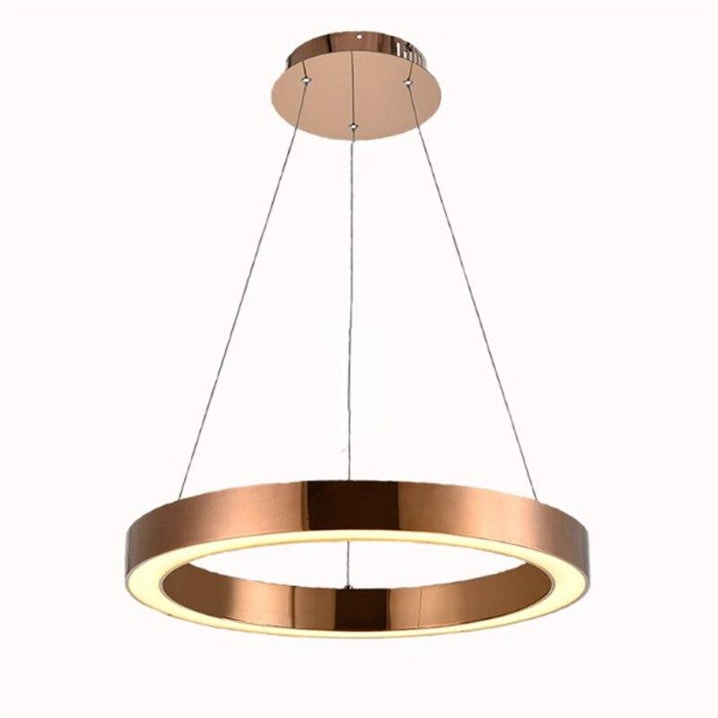 Modern Round Circle Led Pendant Light for dinning Room Acrylic hanging lamp 85 265V led kitchen pendant lamp|Pendant Lights| |  - title=