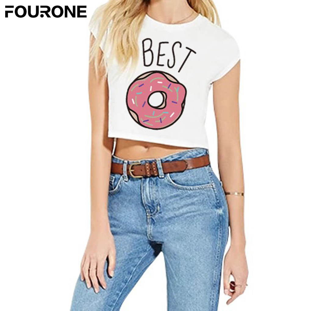 Summer harajuku t shirt women best friends t shirt donut for Best t shirts for summer