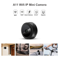 A11 Wifi IP Mini Camera Full HD 1080P Secret Camera IR Night Vision Micro Camera Motion Detection Camera Support Hidden TF Card