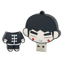 USB Flash Drive Little Dragon Girl/Bruce Lee Pen Drive 32GB USB Pendrive 16GB 8GB 4GB Memory Stick PVC Memoria USB Stick