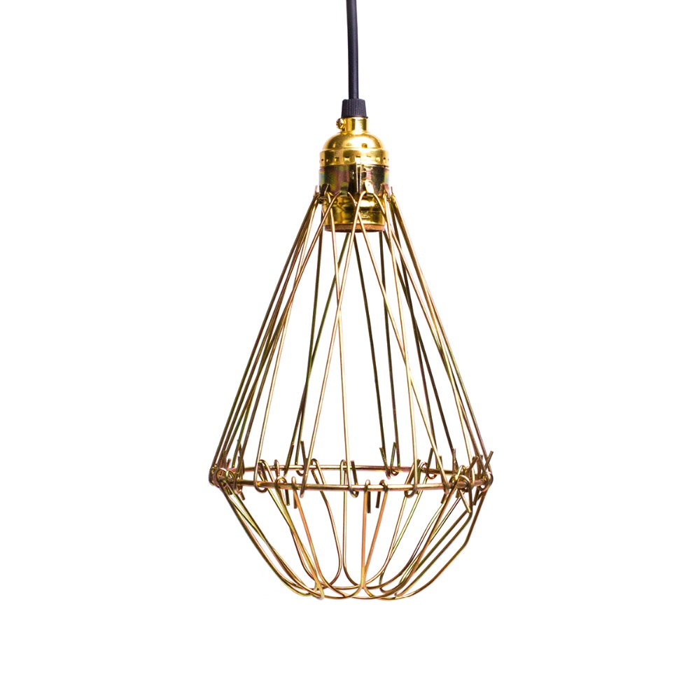 ФОТО Retro American Country Style Loft Pendant Light Golden Painted Drop Hanging Pendant Lamp E27 Edison Bulb Lighting 110V/220V