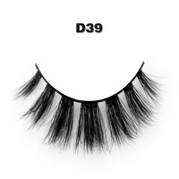 Free Shipping D38 Top Quality Soft 100 Real Handmade Silk Strip Lashes 3d Soft Eyelashes
