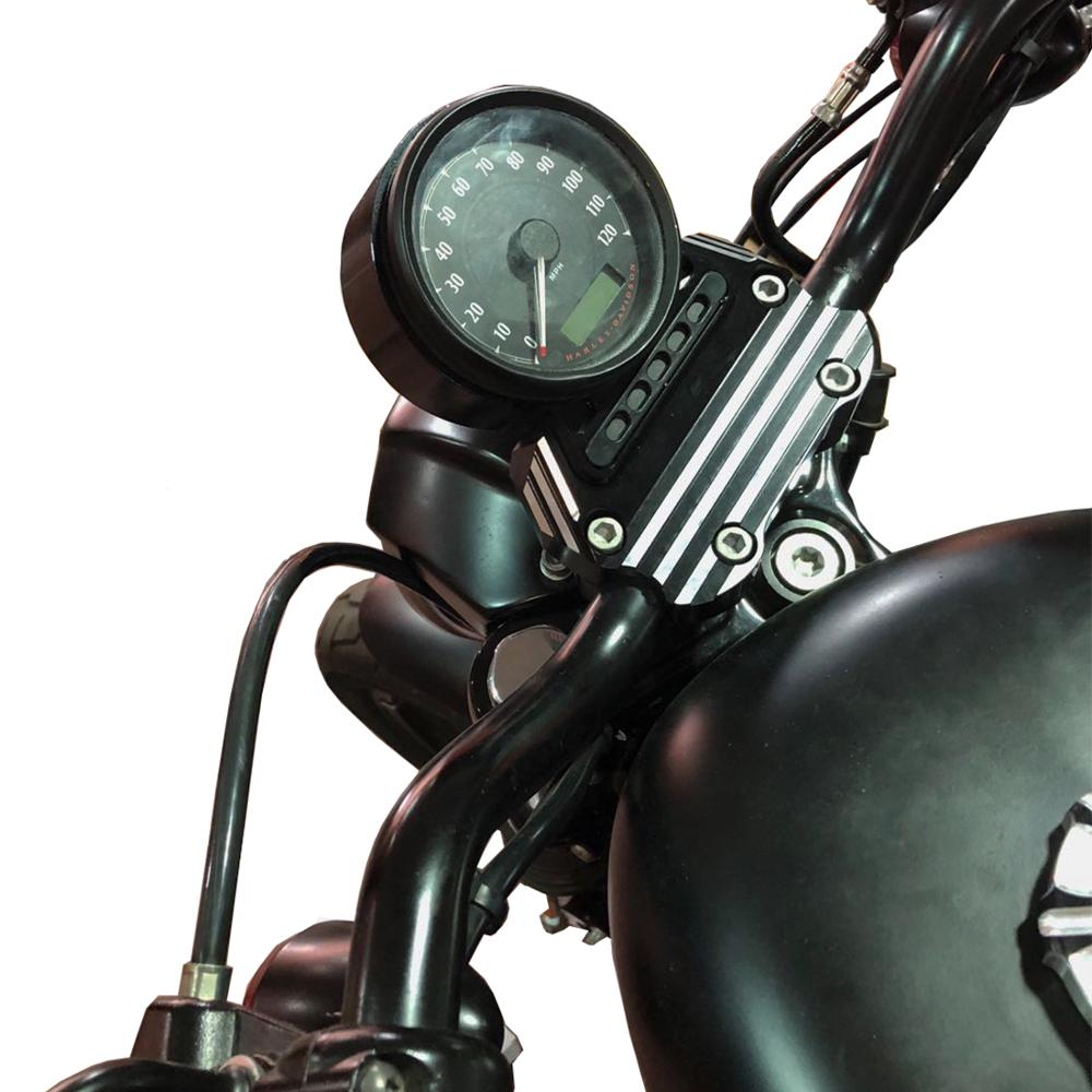 Motorcycle Aluminum Instrument Bracket Speedometer Relocation Mount Bracket For Harley Sportster XL883 Custom Low 1200