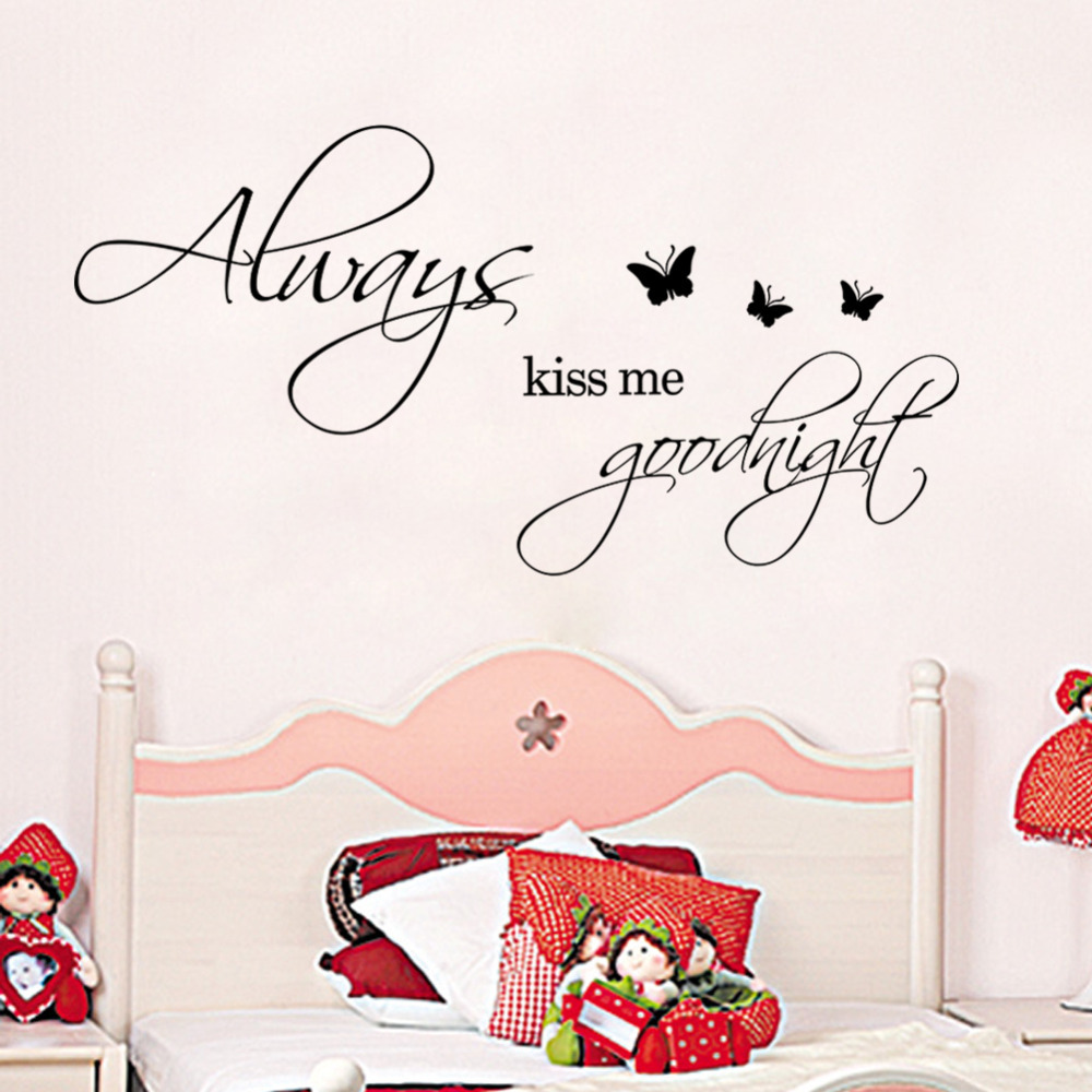 Warm KISS ME BUTTERFLY home decal wall sticker /party decor wedding decoration /DIY adesivo de parede gift for ZY8484