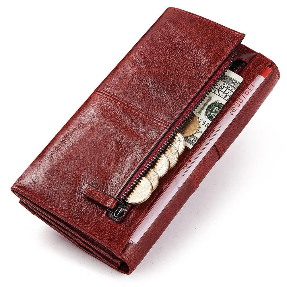 GZCZ, натуральная кожа, женский модный клатч, кошелек, Женский кошелек, портмоне, зажим для телефона, сумка, длинный, женский, удобный держатель для карт