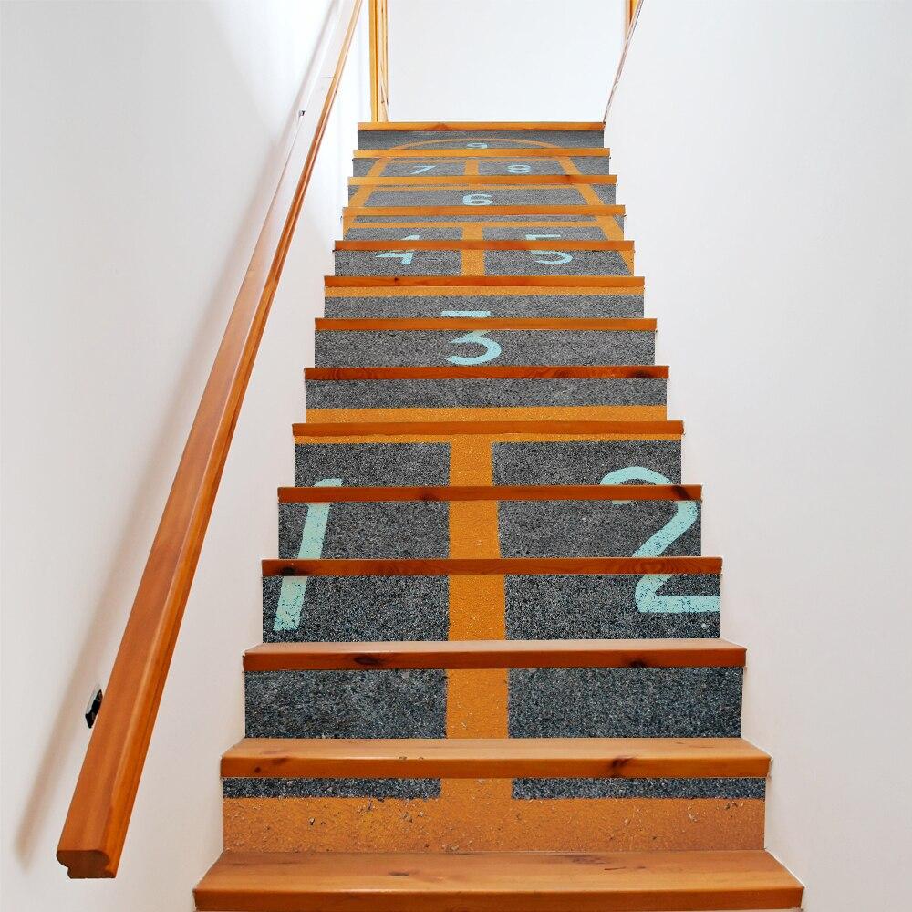 ג 'יימס בית מדרגות קיר מדבקות מדרגות - עיצוב לבית