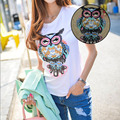 Cute Owl Embroidered iron on patches for clothes sequins deal with it clothing DIY Motif Applique badge Freeshipping