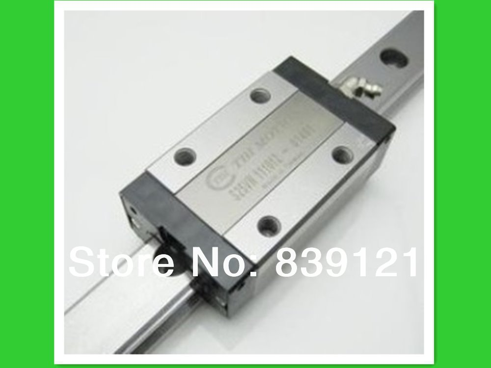 Original TBI linear guideway bearings block1pc TRS20VN + guide rail TR20-500MM tbi 2pcs trh20 1000mm linear guide rail 4pcs trh20fe linear block for cnc