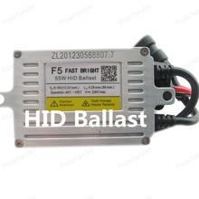 Polarlander 2pcs F5 55W HID Ballast Fast Bright Slim Xenon Ballast AC Electronic Ballast Auto Headlight DLT HID Ballast