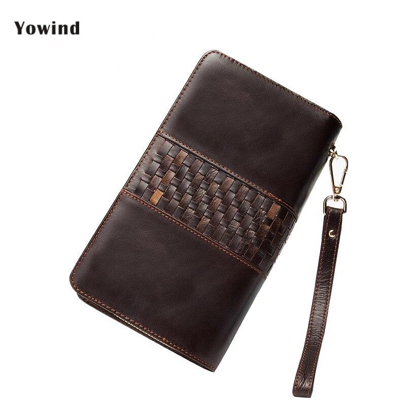 2018 Large Capacity Men Wallets Long MultiFunction Double Zipper Phone Bit Credit Card Holder Purse Wallet Handbag In Stock