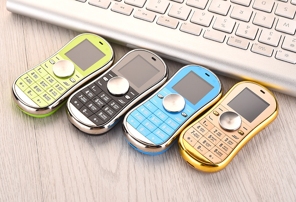 50pcs Mini English version 2G LED hand Fidget spinner phone metal 9cm 2 Sim card kids