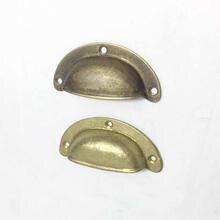 Cotom 1 шт антикварные толстые латунные мебельные ручки полукруглые