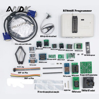Universal RT809H EMMC-Nand FLASH Programmer + 24 ADAPTERS WITH CABELS EMMC-Nand better than RT809F/TL866CS/TL866A Free shipping