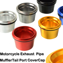CNC Aluminum Motorcycle Exhaust Pipe Muffler Tail Port Cover Cap for Yamaha T-max 530 TMAX  530 2012 2013 2014 2015 2016 2017 cnc motorcycle exhaust pipe muffler tail port cover cap for yamaha tmax530 tmax 530 t max 530 2012 2013 2014 2015 2016 2017