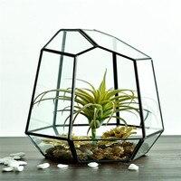 זכוכית שקופה אגרטל פרחי קישוט הבית מילוי אגרטלים חממה חממה צמח בשרניים מתנת נוף מיקרו כיסוי 1 יחידות