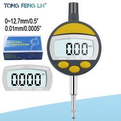 """0 12.7mm 1 """"miernik tarcza z cyframi wskaźnik wybierania wskaźnik precyzyjne narzędzie 0.01mm 0.0005"""" tester narzędzie w Wskaźniki wybierania od Narzędzia na"""