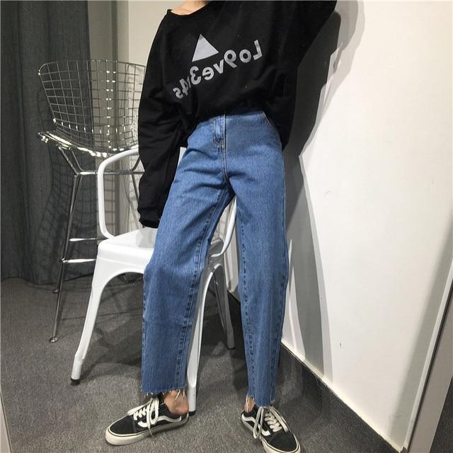 7c6e93630c716 Baggy jeans femmes flare jeans cloche bas pantalon large jambe jeans  pantalon femme calcas feminina jean