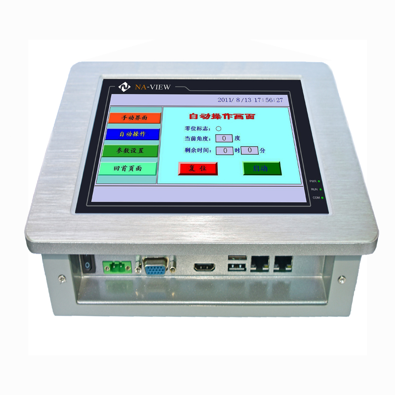 High Quality 8.4 Inch LCD Display Fanless Industrial Panel Pc With Touch Screen Support Xp System