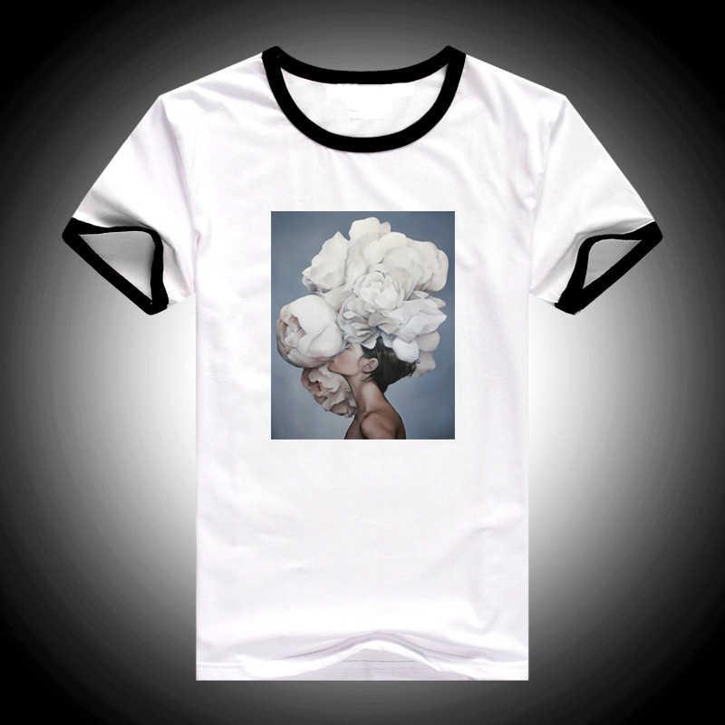2019 Mùa Hè tops new hoa thẩm mỹ nghệ thuật in t áo sơ mi nữ giản dị ulzzang thời trang áo thun femme Harajuku T-Shirt nữ