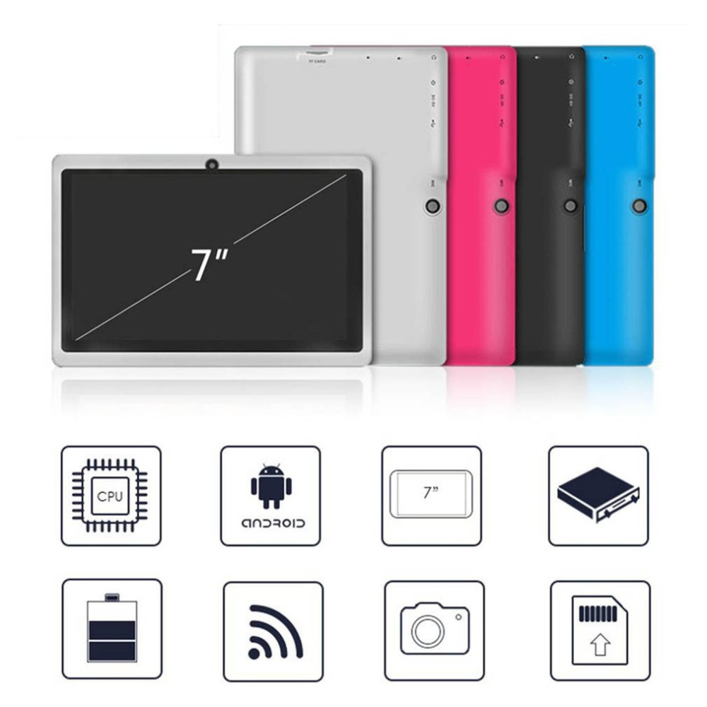 7 Inch Quad Core 800*480 WIFI Dual Cameras Tablet PC For Android 512M Ram +8G Rom Support TF Card(China)
