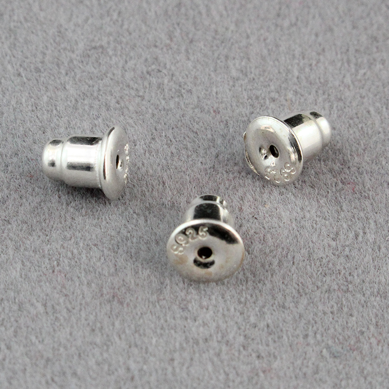 925 Sterling Silver Earring Nuts Stoppers Backs Backers Bullet Clutch For Posts Jewelry In Findings Components