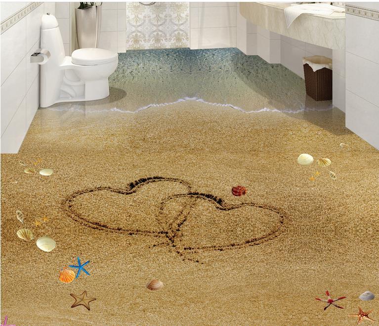 3d papel tapiz de suelo de ladrillo pared personalizada for Vinilos 3d para suelo