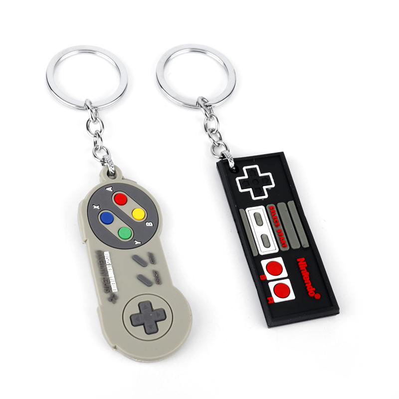 Game Controller Keychain Rubber Pendant Key Rings Game Lovers Friend Best Gifts image