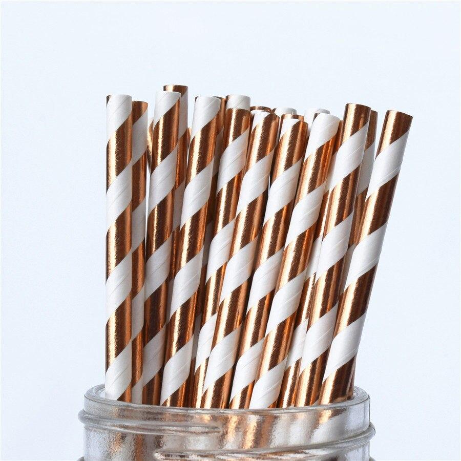 gold rose stripes