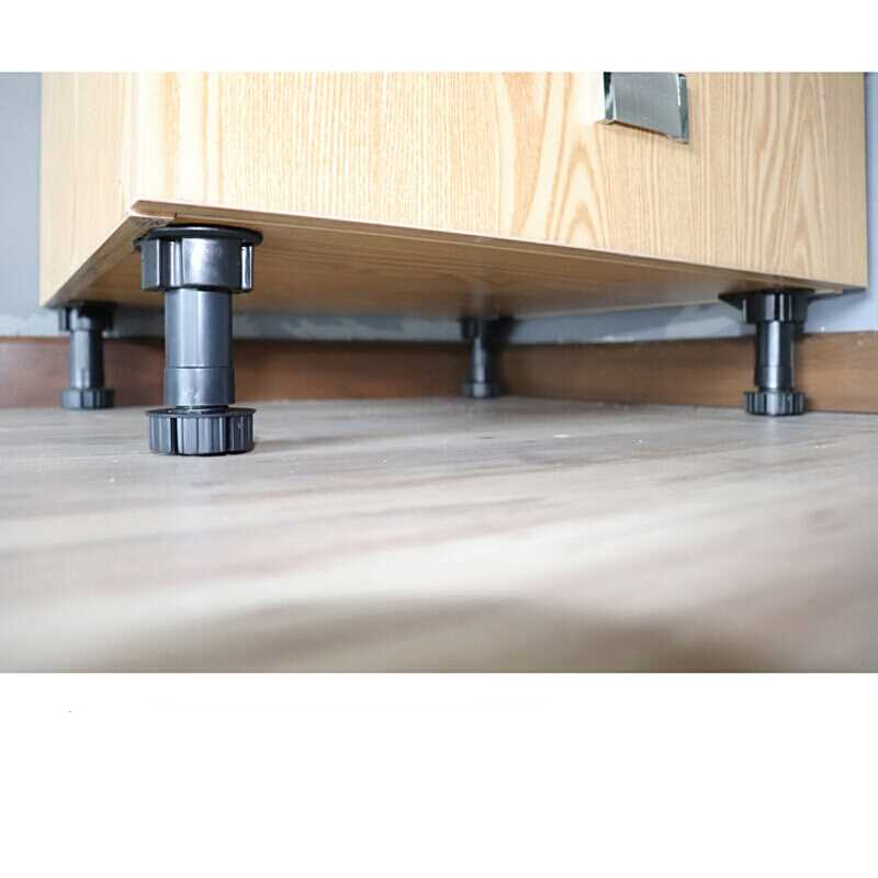 4pcs Plastic Furniture Legs 10cm Adjustable Height Rubber Sofa Cabinet Feet Furniture Support Legs