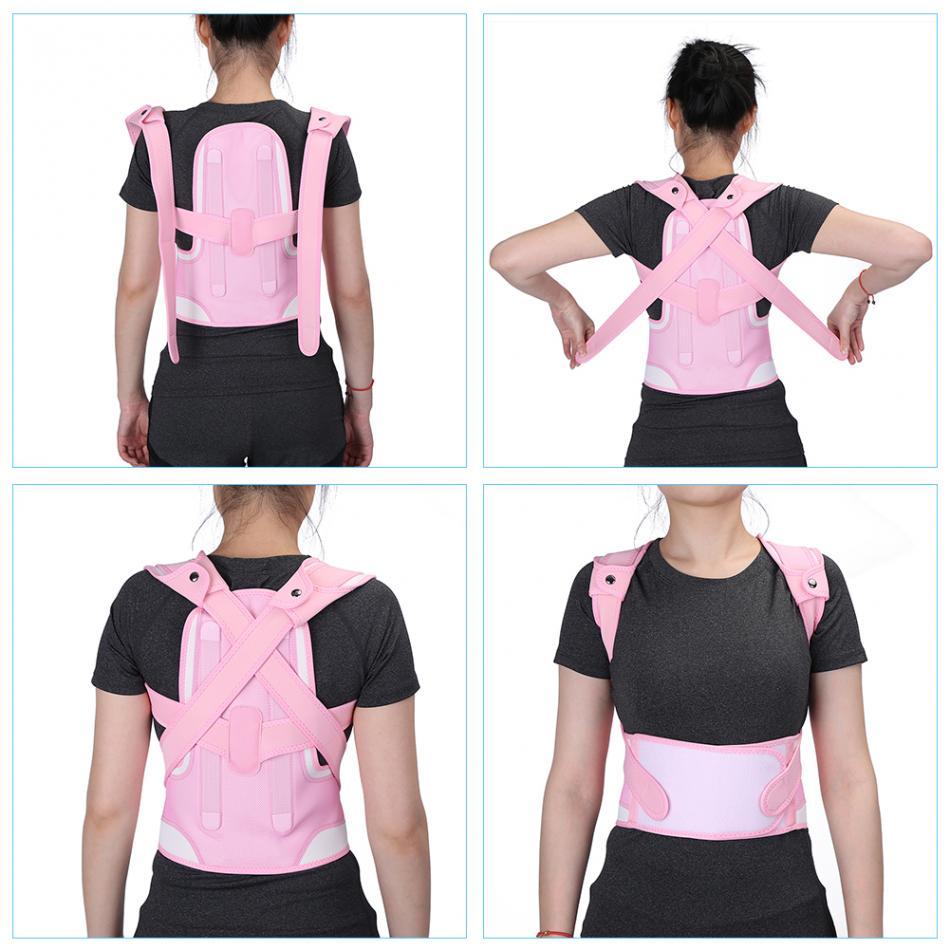 Adjustable Children Kid Posture Corrector Brace Belt Spine Waist Shoulder Support Belt Corset Back Posture Brace Pink Foot Care