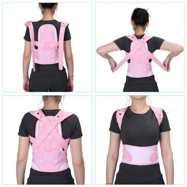 Adjustable Children Kid Posture Corrector Brace Belt Spine Waist Shoulder Support Corset Back Pink Foot Care-in Care Tool from
