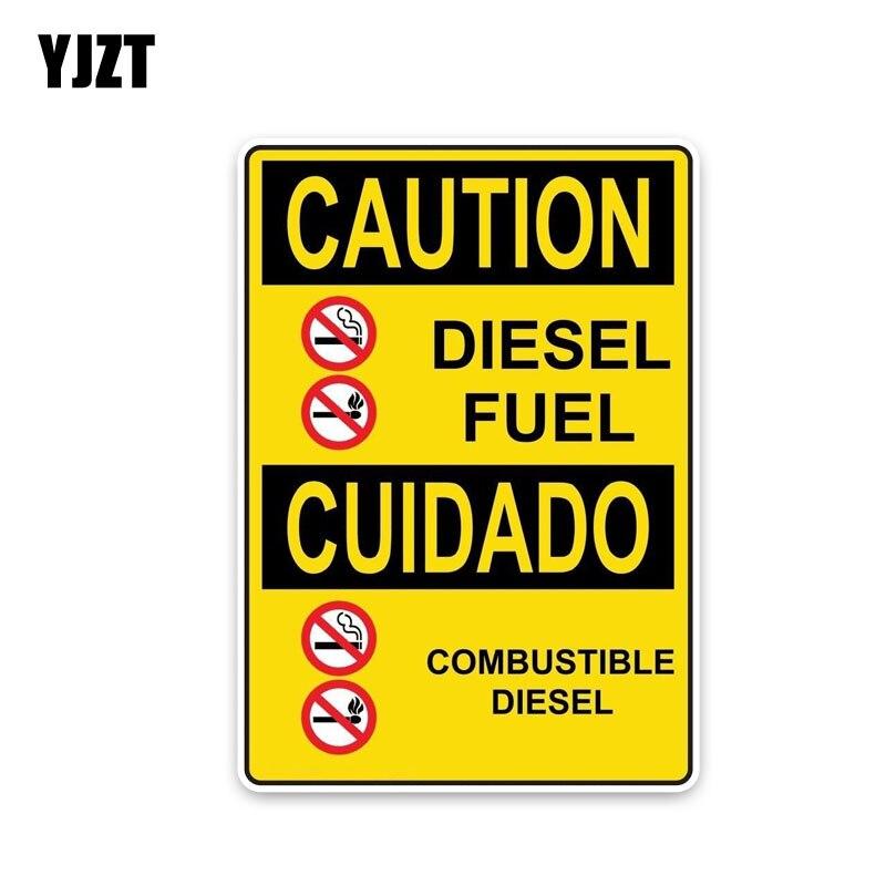 Yjzt 11*15.7 см личности внимание дизельного топлива горючих... Предупреждение признаки ПВХ Графический автомобиля Стикеры наклейка c1-8306
