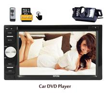 free camera two 2 Din Autoradio Bluetooth in Dash GPS Navigation Stereo Moniceiver FM/RDS radio Car DVD Player+Remote Control