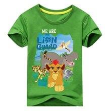 cac6694dd05e4 Enfants Costume T-shirts Garçons Filles Le Roi de Lion Garde Court manches T -Shirt Tee Tops Vêtements 2018 Nouvelle Pour Les enf.