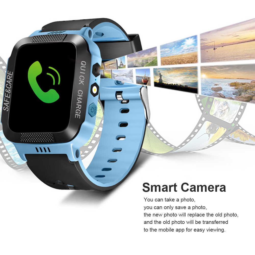 Smart Waterproof Wristwatch for Kids Security Anti-lost Remote Control Touch Screen GPS Tracker SIM Call Phone SOS Wrist Watchs