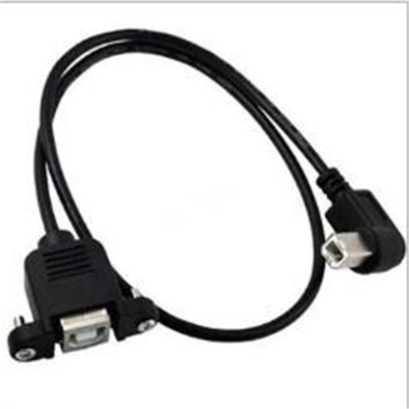 0 5M 1M elbow USB B extension cable USB print port extension cable Print extension cable male to female panel line in Computer Cables Connectors from Computer Office