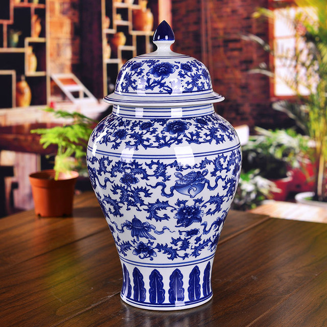 Chinese Ceramic Jar Antique Porcelain Blue And White Ginger Jars