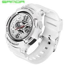 SANDA Top Brand White Women's Watches Waterproof Sports Wristwatch Ladies Quartz Watch Swimming reloj mujer relogio feminino 757