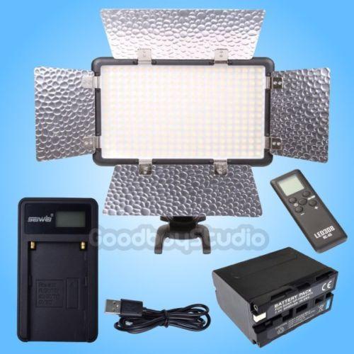 цена на Godox LED308CII LED Light Panel w/ Remote + 6600mAh Li-ion Battery + USB Charger