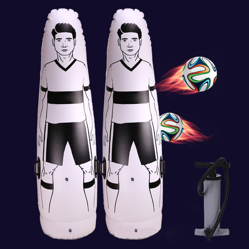 Newly 1.75m Adult Inflatable Football Training Goal Keeper Tumbler Air Soccer Train Dummy Tool PVC Inflatable Tumbler Wall B2C