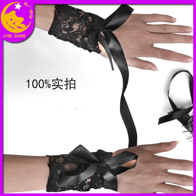 Sexy Lingerie Queen Mask Soft Padded Lace Mask Blindfolded Patch + Sex Handcuffs Sex Toys For Couples Erotic Costumes Sexy Game 2