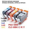 5 ink PGI 5 CLI 8  5color compatible ink cartridge For canon PIXMA MP530 MP600 MP600R MP800 MP800R MP810 MP830 printer full ink