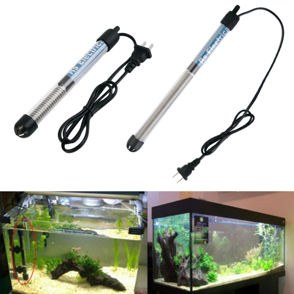 Aquarium Fish Tank Adjusting Heating Rod Protecting Cover with 3 Suction Cups