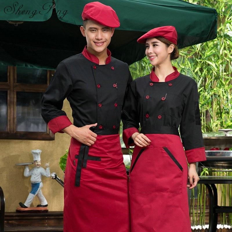 Manteaux de cuisine uniformes de chef, service alimentaire uniformes de restaurant femmes hommes vêtements de cuisine uniformes de chef manteau de veste vêtements de chef de cuisine d'hôtel CC357