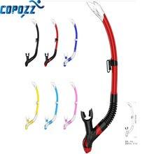 COPOZZ Dry Snorkel Diving Tube Air PU Liquid Silicone Scuba  Equipment for Men /Women