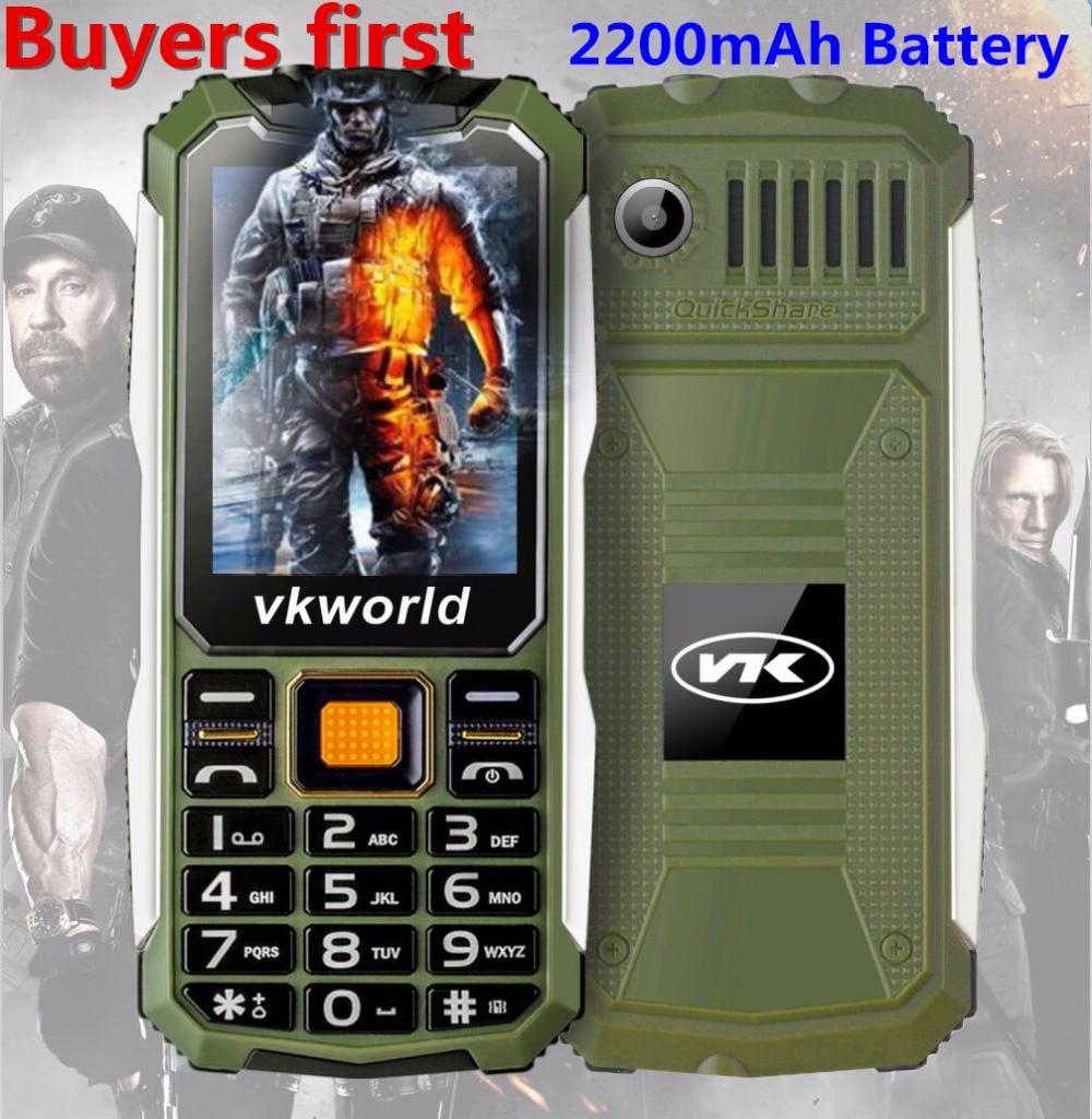 VKWorld Stone V3S 2 4 inch Dropproof Dustproof Mobile Phone Dual LED Light FM Dual SIM